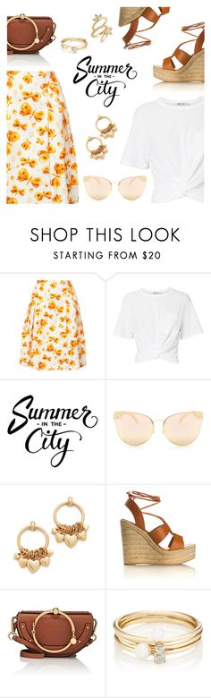 """Summer in the City"" by dressedbyrose ❤ liked on Polyvore featuring Carolina Herrera, T By Alexander Wang, Quay, Elizabeth Cole, Yves Saint Laurent, Chloé, Loren Stewart, Luv Aj, StreetStyle and Summer"