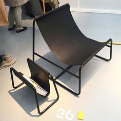 """Industrial design studio Designgoat collaborated with Garrett Pitcher, creative director at menswear boutique and branding studio Indigo & Cloth, both based in Dublin, on a steel frame and leather chair and magazine rack, inspired by the notion: """"If the Vikings had never left, what would Dublin as a city be today?"""""""