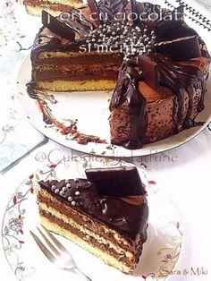 » Tort cu ciocolata si mentaCulorile din Farfurie