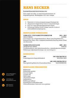 black and orange resume template. Resume Example. Resume CV Cover Letter