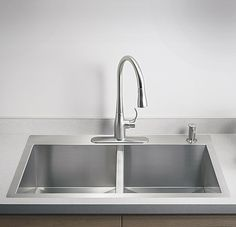Exceptional Kitchen Remodeling Choosing a New Kitchen Sink Ideas. Marvelous Kitchen Remodeling Choosing a New Kitchen Sink Ideas. Top Mount Kitchen Sink, Single Bowl Kitchen Sink, Kitchen And Bath, New Kitchen, Kitchen Ideas, Kitchen Tips, Cheap Kitchen, Kitchen Inspiration, Stainless Steel Kitchen Faucet