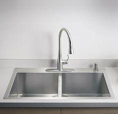 KOHLER | Kitchen Sinks | Kitchen Stainless steel kitchen sink- Apex Home Upgrade