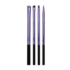 Real Techniques by Samantha Chapman, Your Eyes/Enhanced Eyelining Set, 4 Exclusive Brushes + Pouch (Discontinued Item) Eye Makeup Brushes, It Cosmetics Brushes, Makeup Tools, Eyeshadow Makeup, Makeup Cosmetics, Cosmetic Brush Set, Cosmetic Sets, Makeup Brush Set, Eyeliner Brush