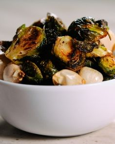 Roasted Brussels Sprouts ~ I never tried these before until my husband made them, theyare sooooooo good.