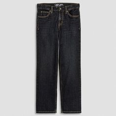 Boys' Straight Fit Dark Wash Jeans