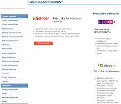 POŻYCZKA HIPOTECZNA EXPANDER http://www.informator-bankowy.waw.pl/pozyczki-hipoteczne.html