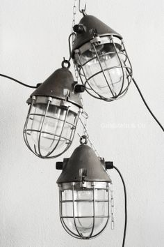 Cast-iron caged lamps