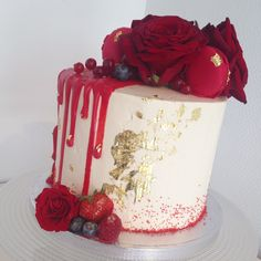 Image result for pinterest drip cake gold and green