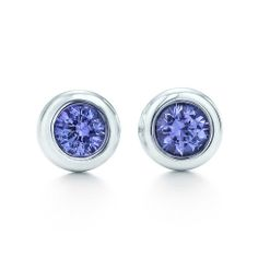 Elsa Peretti® Color by the Yard earrings in sterling silver with tanzanites.