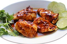 Easy Honey Lime Garlic Chicken with Weight Watchers Points   Skinny Kitchen Meat Recipes, Chicken Recipes, Cooking Recipes, Diabetic Recipes, Dinner Recipes, Healthy Recipes, Weight Watchers Chicken, Weight Watchers Meals, Low Fat Low Carb
