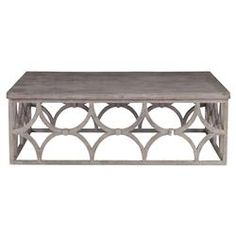 Modern Classic Slate Oak Rectangle Coffee Table   Kathy Kuo Home