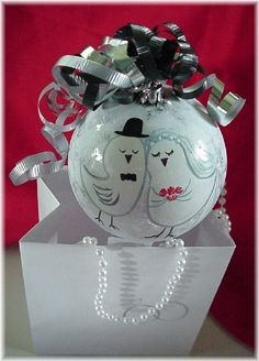 Personalized Wedding Ornament for Bride and Groom Gift. $24.00, via Etsy.