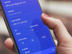 Signup screen - iOS app design by Luka Cvetinovic