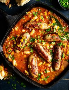 The cassoulet is a regional specialty of Languedoc. It was a popular dish in the rural countryside consisting of white beans simmered with meat. It is now prepared according to the different regional recipes in the south of France. Sausage Recipes, Pork Recipes, Slow Cooker Recipes, Cooking Recipes, Healthy Recipes, Savoury Recipes, Slow Cooking, Healthy Meals, Kitchen