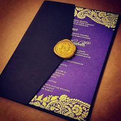 Naija, our bolder paisley motif is a popular pick for gold foil. A Splash Of Color With Elegant Foil – Indian Wedding Trend | Letterpress Wedding Invitation Blog
