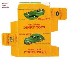 DINKY TOYS 24R : PEUGEOT 203 boite repro / reprobox | eBay