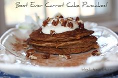 Carrot Cake Pancakes - these were really good, although seemed to take a lot longer to cook (like all my pancakes!) than expected