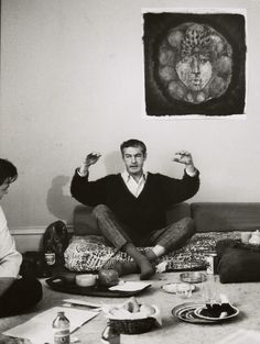 Dr. Timothy Leary lectures from a futon in 1966.
