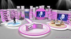 Kanal d - güzel bir gün talk - variety morning show tv set t Tv Set Design, Stage Set Design, Booth Design, Hotel Room Design, Interior Design Studio, Studio Tv, Plateau Tv, Virtual Studio, Tv Sets