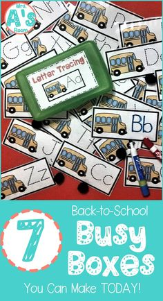 These back-to-school busy boxes are ready to print, cut, and use! Your preschool… These back-to-school busy boxes are ready to print, cut, and use! Your preschool and kindergarten kids will love these 7 activities! Beginning Of Kindergarten, Beginning Of The School Year, Early Finishers Kindergarten, Welcome To Kindergarten, Kindergarten Morning Work, Preschool Centers, Preschool Activities, Teach Preschool, Early Education