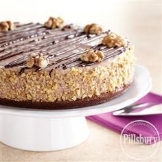 Chocolate Mousse Walnut Brownie Torte from Pillsbury® Baking