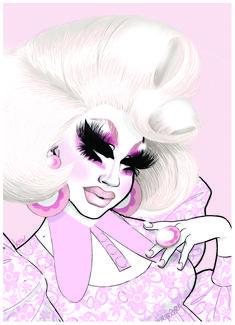 Portrait of Trixie Mattel. #trixiemattel #dragrace #rupaulsdragrace #dragqueen As You Like, Fine Art, Queen, The Originals, Portrait, Illustration, Artwork, Artist, Image