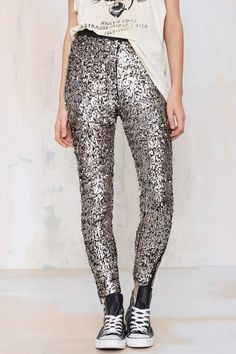 Nasty Gal Boogie Nights Sequin Leggings | Shop Clothes at Nasty Gal!