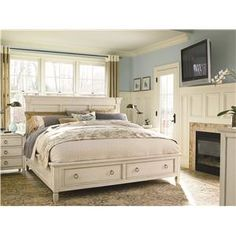 Summer Hill King Storage Panel Bed by Universal - Reeds Furniture - Headboard & Footboard Los Angeles, Thousand Oaks, Simi Valley, Agoura Hills, Woodland Hills