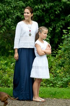Crown Princess Mary and Princess Isabella of Denmark - Annual Summer Photocall For The Danish Royal Family At Grasten Castle on July 25, 2015 in Grasten, Denmark