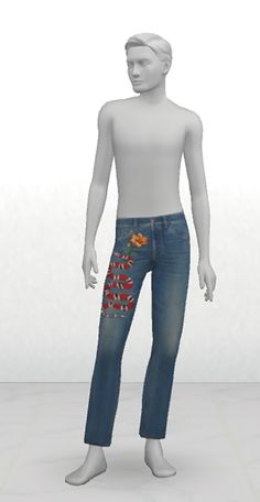 Greenapple18r: Gcci Jeans for him • Sims 4 Downloads