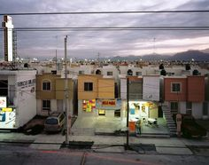 Business in Newly Built Suburb in Juarez, 2009 Suburbia Mexicana Project Archival Inkjet Print, Edition 5 of 10 (in this size) Alejandro Cartagena/ Mexico City. Urban Setting, Documentary Photographers, Photos, Pictures, Land Scape, Around The Worlds, Street View, In This Moment, Adventure