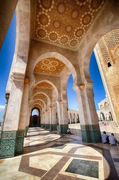 The Hassan II Mosque in Casablanca, Morocco is one of the crown jewels of Muslim architecture. The biggest mosque in Morocco, third biggest in the world. Marrakech, Morocco Travel, Africa Travel, Beautiful Mosques, Beautiful Places, Oh The Places You'll Go, Places To Visit, Casablanca Morocco, Mekka