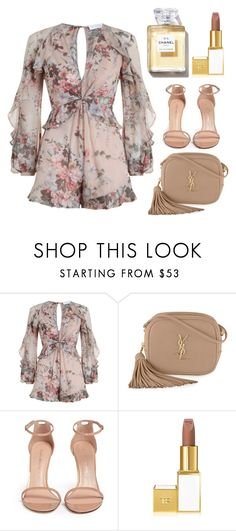 """""""Untitled #102"""" by keynalizzia ❤ liked on Polyvore featuring Zimmermann, Yves Saint Laurent, Stuart Weitzman and Tom Ford"""