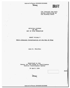 Spam> RESEARCH DOCUMENT : CIA Releases Controversial Bay of Pigs History