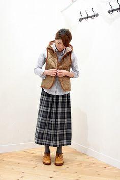 薄く軽く温かい♪今年も大活躍「ラベンハム」キルティングウェアの着こなし帖。 | キナリノ