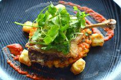 Confit dug leg with mograbieh couscous, sweet potato #fedeles #fedelesrestaurant #confitduck #bestduck
