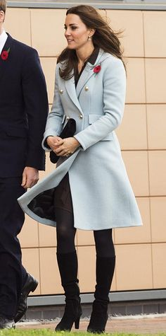 Hats Off! - For the Remembrance Sunday Service in London, the princess paired her Alexander McQueen flared wool coatdress with a matching Jane Corbett hat, delicate jewels, and a festive poppy pin.