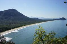 Praia do Rio Verde vista da Trilha do Imperador - Iguape/SP