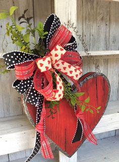 Valentine Candy Box WreathRustic Heart Door Swag by Keleas on Etsy