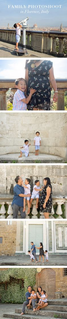 Family photoshoot near Piazzale Michelangelo in Florence, Italy by Mollie Pritchett Studio