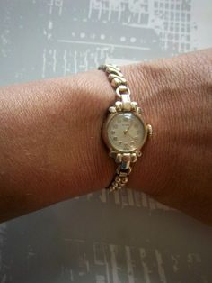 Vintage CYMA WATCH 10k Gold Filled Swiss Wind Up Manual with Rare Speidel Miss Forty-Niner Watch Band via Once Upon A Gem. Click on the image to see more!