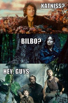 What Bilbo really discovers when he climb the tree