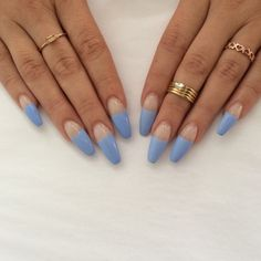 periwinkle blue french tips