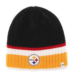 best loved 01762 b1fc0 Pittsburgh Steelers Buddy Beanie Black 47 Brand KID Hat