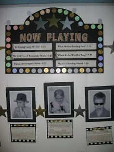 hollywood classroom theme | Found on clutterfreeclassroom.blogspot.com