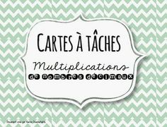 Math Multiplication, Fractions, Cycle 3, Math Numbers, School Decorations, Number Sense, 5th Grades, Task Cards, Teaching Math