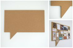 Speech Bubble Rectangle - Pin Board Size: (W) x / (W) x Fine Agglomerate Cork with a MDF supawood backing board. Hanging system is pre-installed. Cork Wall, Wall Candy, Earth Design, Office Accessories, Girls Bedroom, Decorative Items, Bubbles, Wall Decor, Creative
