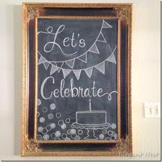 use the Lets Celebrate and banners. Maybe add a crown on the bottom and MPact Cl… use the Lets Celebrate and banners. Maybe add a crown on the bottom and MPact Clubs Chalkboard Doodles, Chalkboard Party, Blackboard Art, Chalkboard Writing, Kitchen Chalkboard, Chalkboard Decor, Chalkboard Drawings, Chalkboard Lettering, Chalkboard Designs
