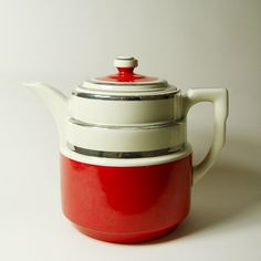 Hall art deco teapot