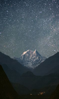 Stars over a cold mountain, so beautiful